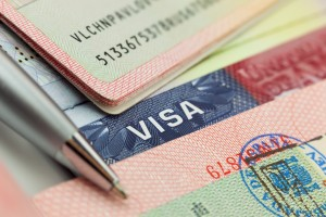 visa page, immigration