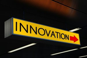 an innovation sign, immigration
