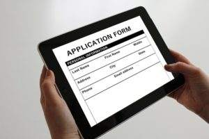 an application form, immigration attorney