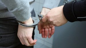 wearing handcuffs