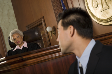 Judge and a man