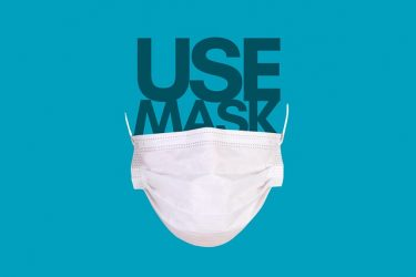 Mask with use mask words