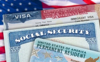 permanent resident card, social security card, and immigrant visa
