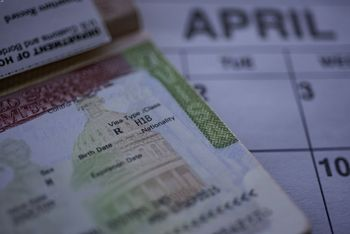 H1B visa page on passport